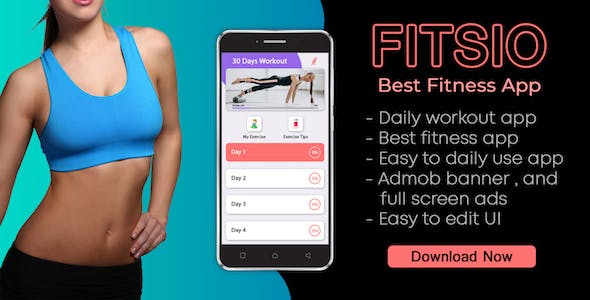 FITSIO : Workout & Yoga Fitness app