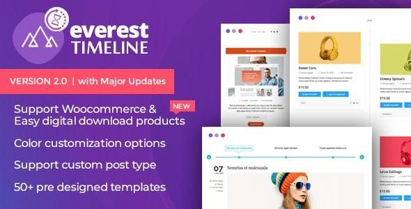 Everest Timeline - Responsive WordPress Timeline Plugin - CodeCanyon Item for Sale