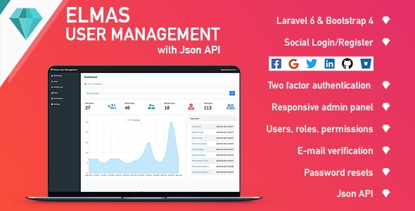 Elmas PHP Login and User Management - CodeCanyon Item for Sale