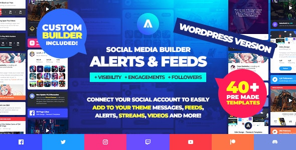 Asgard - Social Media Alerts & Feeds WordPress Builder - Facebook, Instagram, Twitch and more! - CodeCanyon Item for Sale