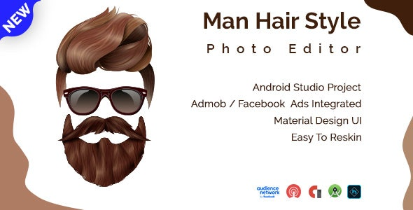 Man Hair Style Photo Editor Android App - CodeCanyon Item for Sale