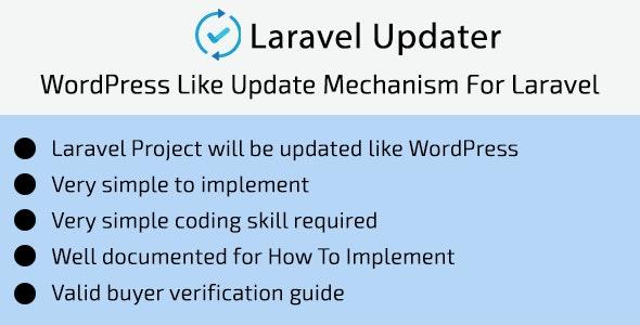Laravel Updater - WordPress Like Update Mechanism For Laravel - CodeCanyon Item for Sale