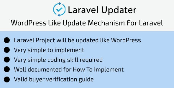 Laravel Updater - WordPress Like Update Mechanism For Laravel