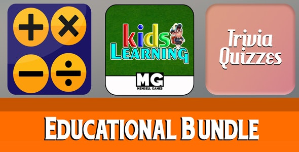 Educational Bundle 3 Games - Buildbox Projects + Android Studio + Admob - CodeCanyon Item for Sale