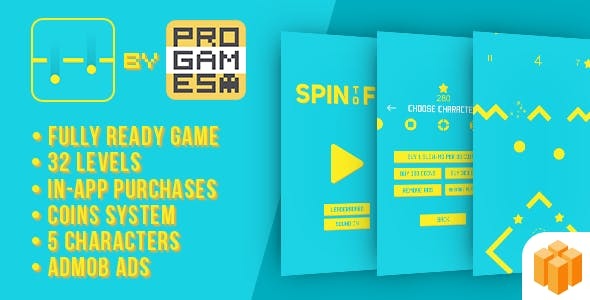 Spin 2 Fit - BUILDBOX - IOS - easy to reskine + AdMob
