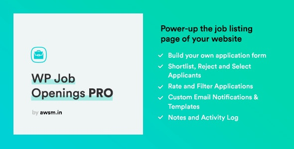 WP Job Openings PRO - CodeCanyon Item for Sale
