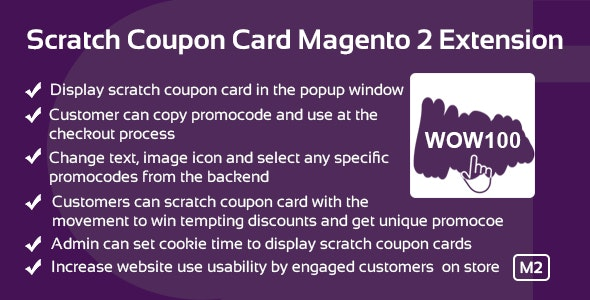 Scratch Coupon Card Magento 2 Extension - CodeCanyon Item for Sale