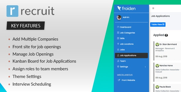 Recruit - Recruitment Manager - CodeCanyon Item for Sale