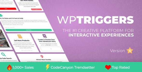 WP Triggers - Add Instant Interactivity To WP - CodeCanyon Item for Sale