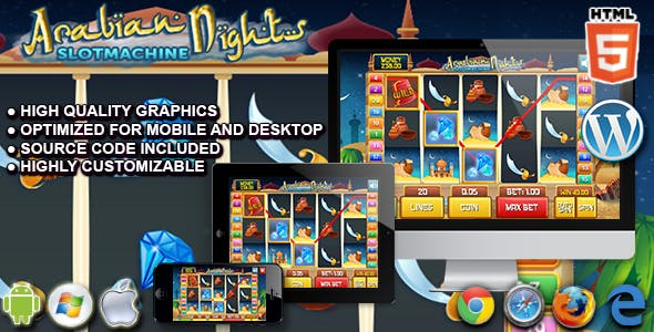 Slot Arabian - HTML5 Casino Game