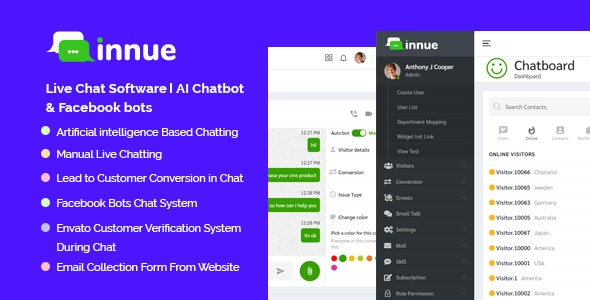 Innue - Live Chat Software | Facebook Messenger - CodeCanyon Item for Sale