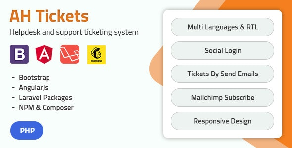 AH Tickets - Help Desk and Support Tickets System - CodeCanyon Item for Sale