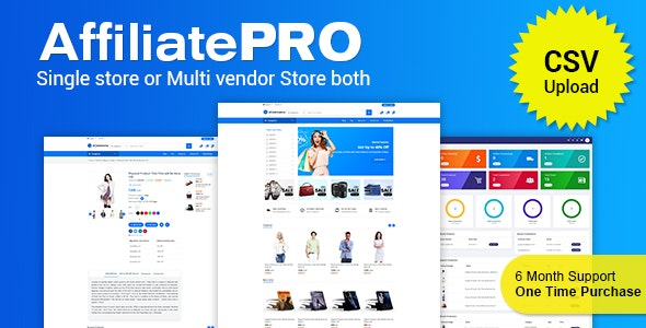 AffiliatePRO - Affiliate Store CMS with CSV - CodeCanyon Item for Sale