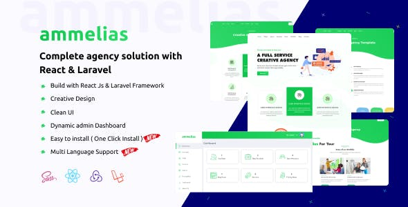 Ammelias - Laravel React Agency CMS
