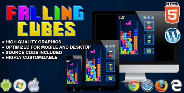 Falling Cubes - HTML5 Arcade Game
