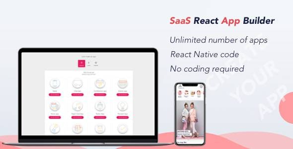 React App Builder - SaaS - Unlimited number of apps - CodeCanyon Item for Sale