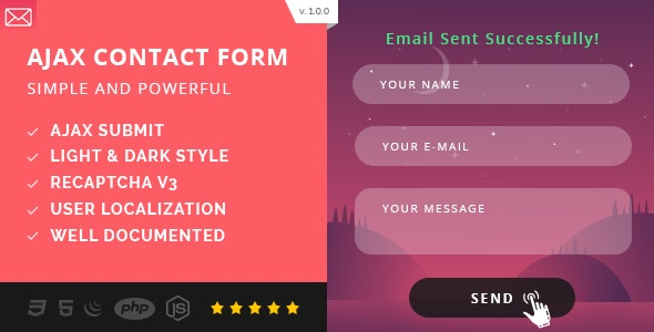 Simple AJAX Contact Form (Mobile First) - CodeCanyon Item for Sale