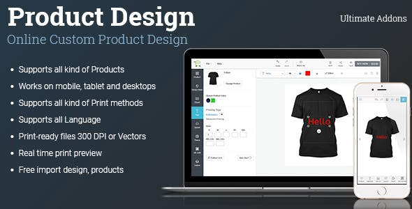 Ultimate Addons for Custom Product Designer (WooCommerce, Opencart, Prestashop)