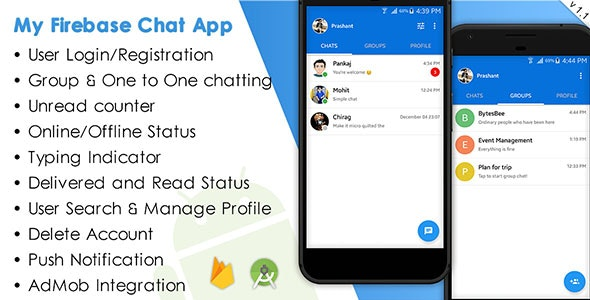 My Firebase Chat - CodeCanyon Item for Sale