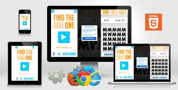 Brain Games - Find The Odd One Out - FB Quiz style - CodeCanyon Item for Sale
