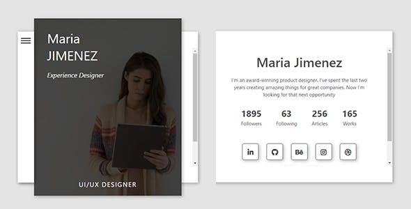 Profile / Resume Card