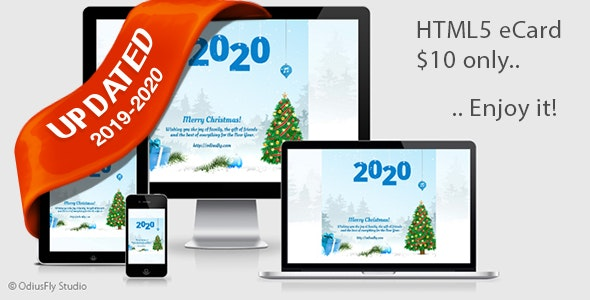Merry Christmas & Happy New Year Card v1 - CodeCanyon Item for Sale