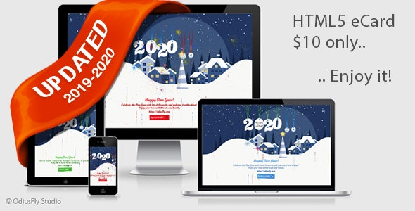 Merry Christmas & Happy New Year Card v3 - CodeCanyon Item for Sale