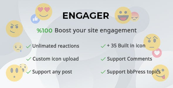 Engager - Reactions builder for Posts, Comments and Forums