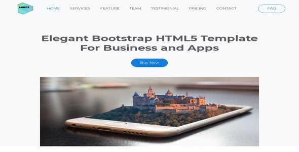 Landi- Elegant Bootstrap HTML5 Template For Business and Apps - CodeCanyon Item for Sale