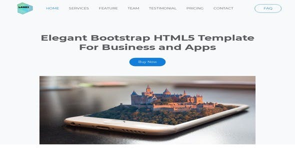 Landi- Elegant Bootstrap HTML5 Template For Business and Apps