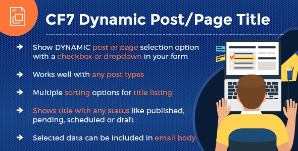 CF7 - Dynamic Post/Page Title - CodeCanyon Item for Sale