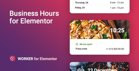 Business hours widget for Elementor – Worker - CodeCanyon Item for Sale