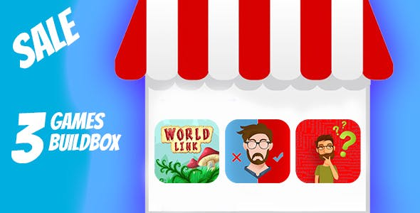 BUNDLE 3 QUESTIONS GAMES BUILDBOX PROJECT WITH ADMOB