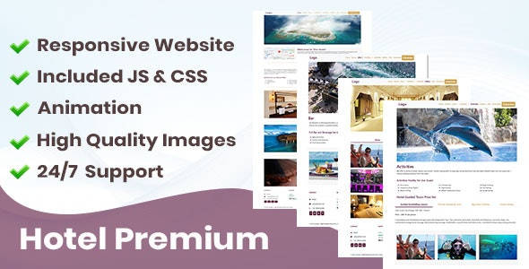 Hotel Premium Website Template - Travel Niche - CodeCanyon Item for Sale