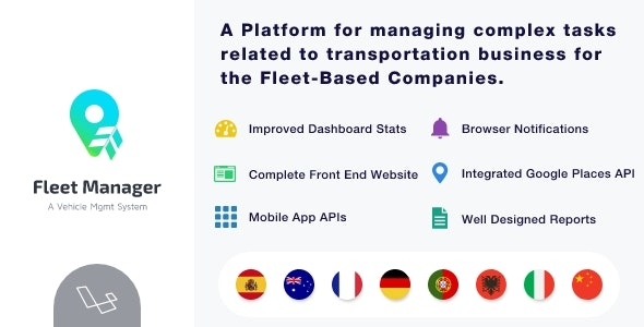 Fleet Manager - Vehicle Management & Booking System - CodeCanyon Item for Sale