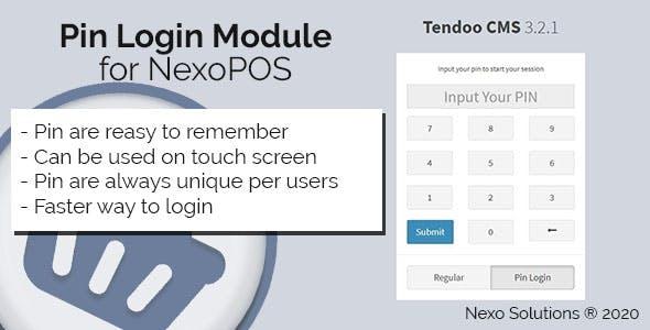 Pin Login Module for NexoPOS