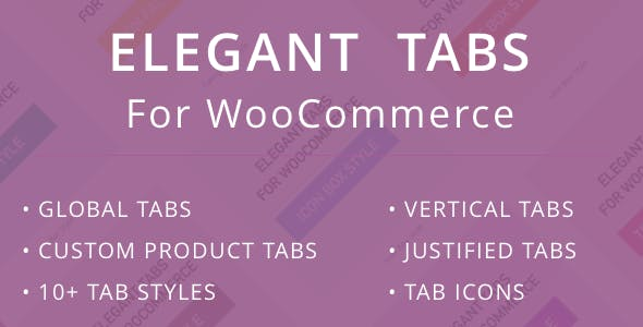 Elegant Tabs for WooCommerce