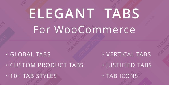 Elegant Tabs for WooCommerce - CodeCanyon Item for Sale