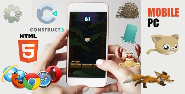 Cat Jump - HTML5 Game (CAPX) - CodeCanyon Item for Sale