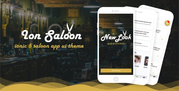 Ion Saloon  - ionic 5 barbershop ui theme