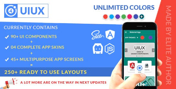 UIUX - IONIC 4 Design Components, Multipurpose App Screens & Complete Starter App Templates