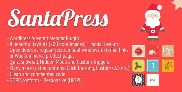 SantaPress - WordPress Advent Calendar Plugin & Quiz