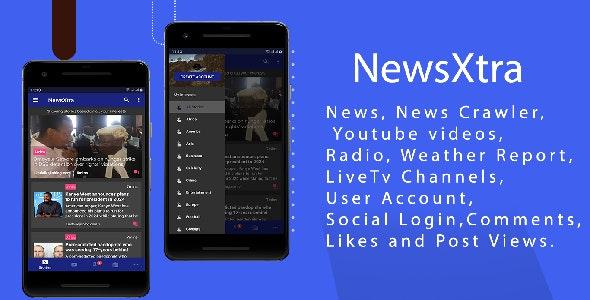 NewsExtra - Articles + Radio + Youtube + Weather + LiveTv - CodeCanyon Item for Sale