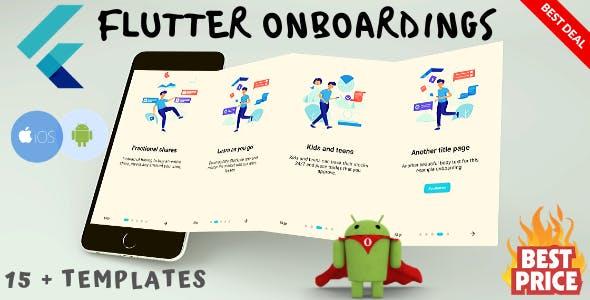 Flutter Onboardings 15+ templates