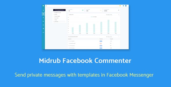 Midrub Facebook Commenter - automatically moderates and sends private messages with templates