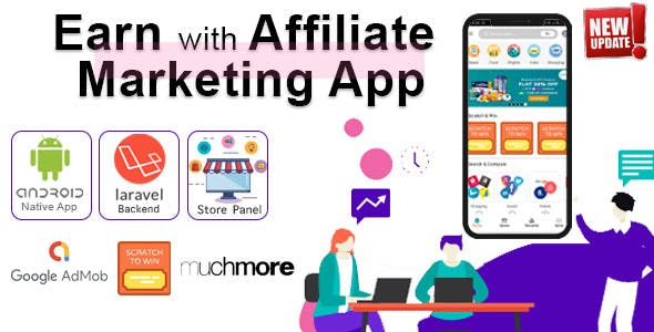 Earn with Affiliate Marketing app with Nearby Stores, Events & Coupons (Backend included)
