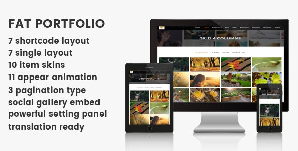 FAT Portfolio - Advance portfolio for Wordpress - CodeCanyon Item for Sale