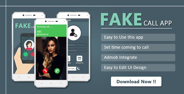 Fake Call : Android app source code