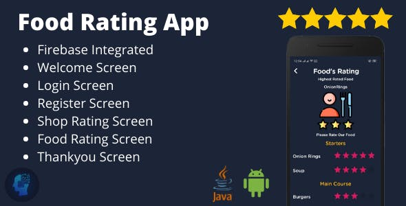 Food Rating App - Food's Rating System Integrated with Firebase