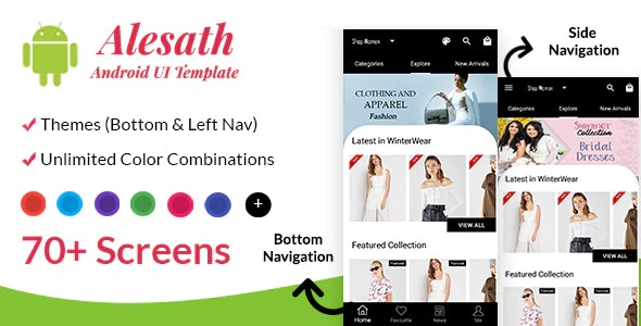 Alesath - Native Android Ecommerce UI Template - CodeCanyon Item for Sale